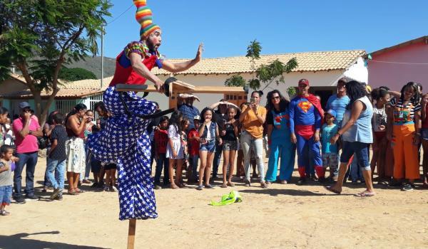 Ação Social na comunidade em São Lourenço