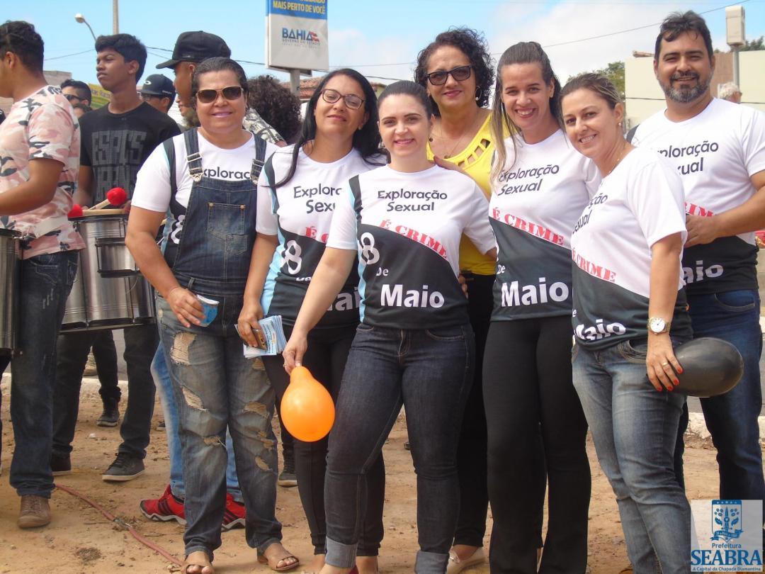 Nesta sexta (18) a Secretaria de Assistência Social do Município de Seabra promoveu uma campanha de conscientização sobre o combate a exploração sexual de crianças e adolescentes.