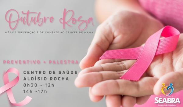 Outubro Rosa: Prefeitura realiza ações de prevenção ao câncer de mama