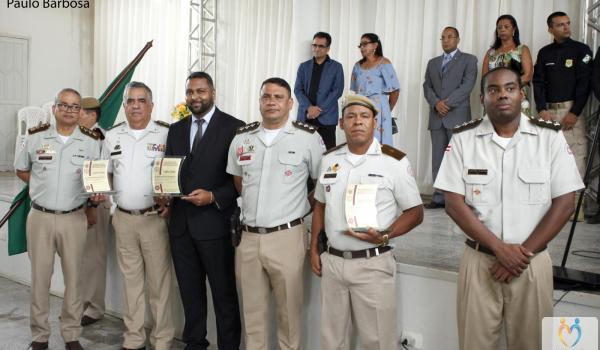 Prefeito Fábio Miranda participa de formatura de novos policiais militares em Seabra