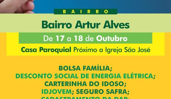 Recadastramento do CadÚnico no bairro Artur Alves