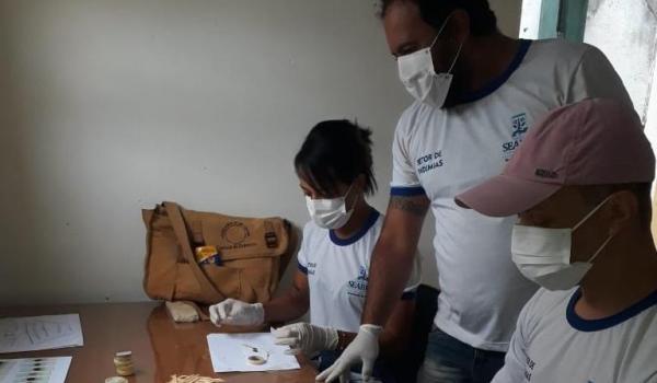 Setor de Endemias está realizando exames para o diagnóstico do Shistossoma